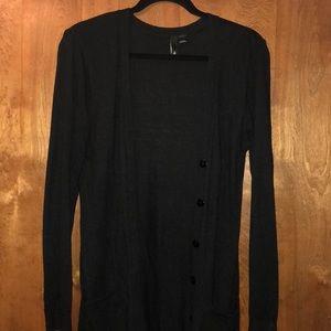 H&M - Long black cardigan with pockets